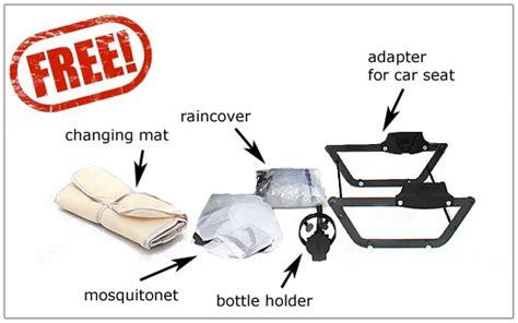 Free Ong Bag Baby 5in1 baby pram stroller 3in1 car seat pushchair buggy swivel