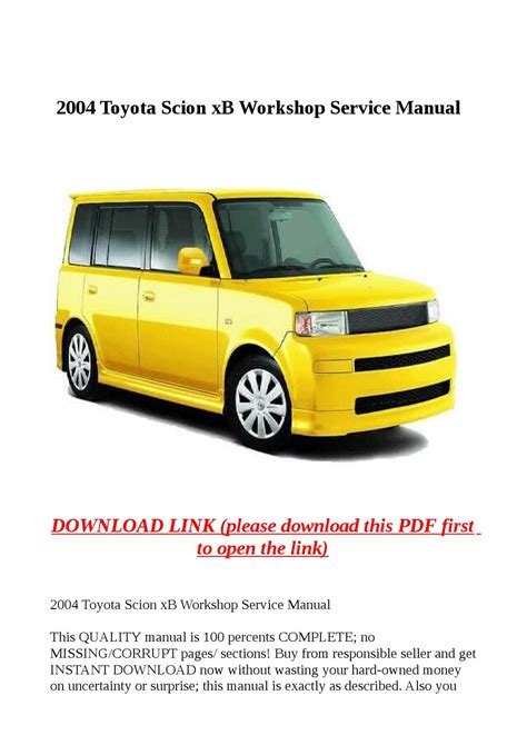 car repair manuals online pdf 2010 scion xb auto manual service manual pdf 2004 scion xb workshop manuals scion workshop manuals gt xb l4 1 5l 1nz