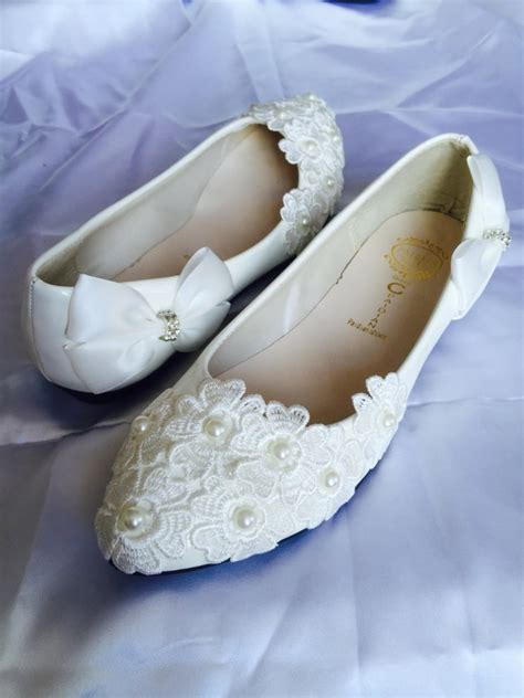 White Wedding Flats by White Wedding Flats Bridal Ballet Shoes Comfortable Flats