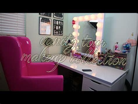 vanity tour makeup collection organization