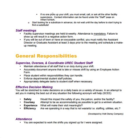 staff manual template sle staff manual template 7 free documents in pdf