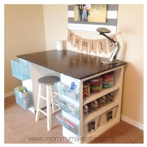 diy craft desk with storage 17 best ideas about craft desk on sewing desk