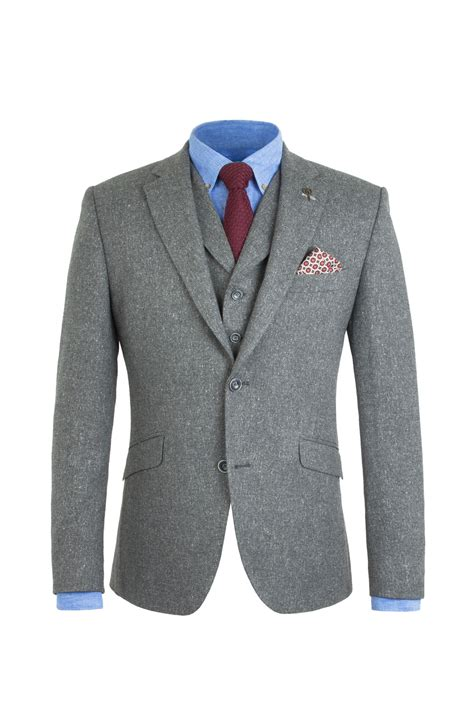 grey donegal tweed 3 suit tom murphy s formal and