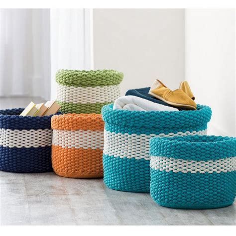 knit basket knitted storage baskets the company store