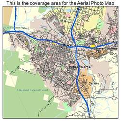 aerial photography map of corona ca california