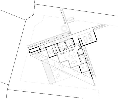 triangular floor plan vincent coste forms triangular a3 house with panoramic view of