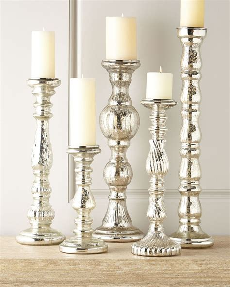 Mercury Glass Candle Holders by Mercury Glass Candle Holders New House