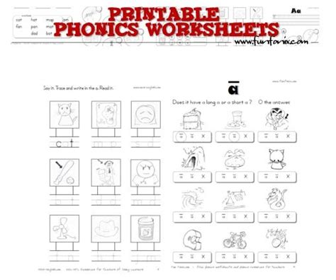 printable phonics worksheets free free printable phonics worksheets