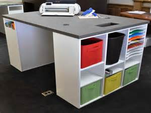 Craft Table With Storage Furniture Craft Table With Storage Scrapbooking Storage