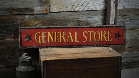 general store  stars rustic hand  vintage wooden