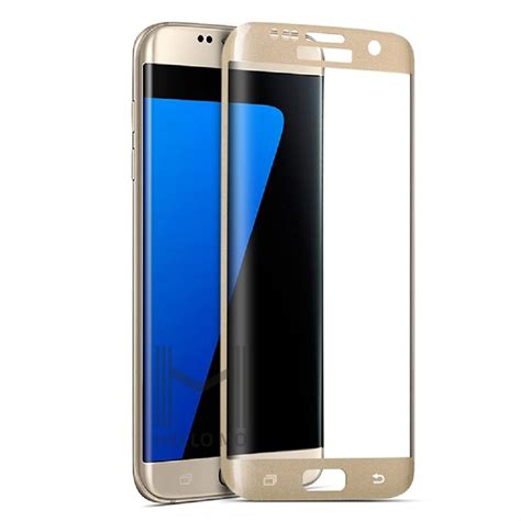 Tempered Glass 4d Cover For Samsung S7 Edge Black for samsung galaxy s7 edge s6 edge mobile phone 4d tempered glass screen tempered glass screen