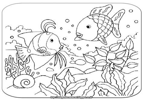 Coloring Mewarnai Pemandangan gambar mewarnai mewarnai gambar pemandangan bawah laut