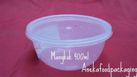 jual mangkok bening plastik tahan panas untuk microwave 400ml tutup anekafoodpackaging