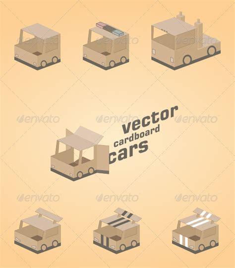 cardboard template vector cardboard cars cardboard car template and logos