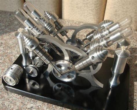 v4 model stirling engine generator set miniature stirling