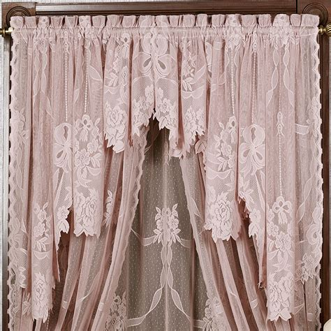 lace swag valance curtains garland lace swag valance pair touch of class