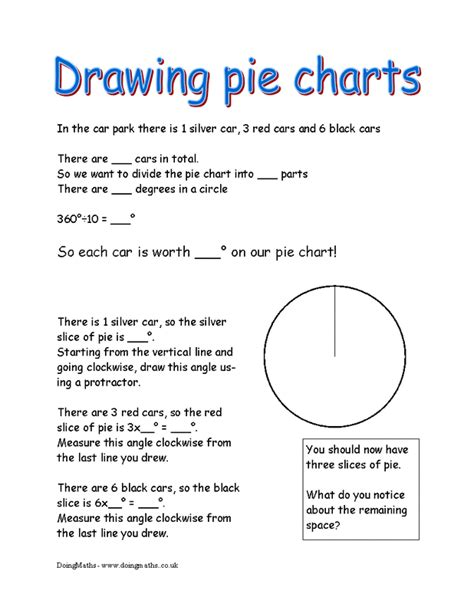 Pie Chart Worksheets by Pie Charts Doingmaths Free Maths Worksheets