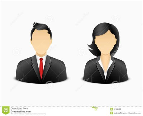 Chess Set by Office Man And Woman Avatar Stock Vector Image 42122433