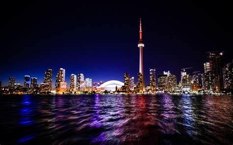 toronto nightscape wallpapers hd wallpapers id