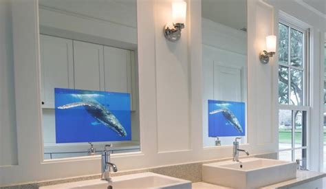 bathroom mirror tv screen 19 inch bathroom tv waterproof tv washroom tv mirror tv for hotel or home or office or