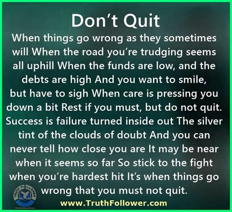 Don T Quit don t quit quitting quotes