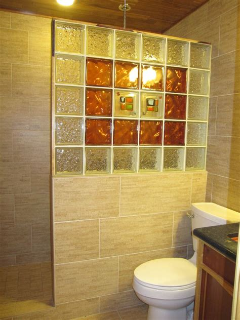 glass block bathroom wall decorative shower innovate building solutions blog