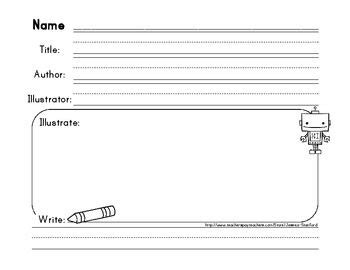 Simple Book Report Title Author Illustrator Author Report Template