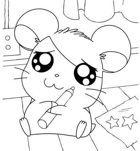 hamtaro coloring pages online hamtaro holding markers hamtaro coloring pages