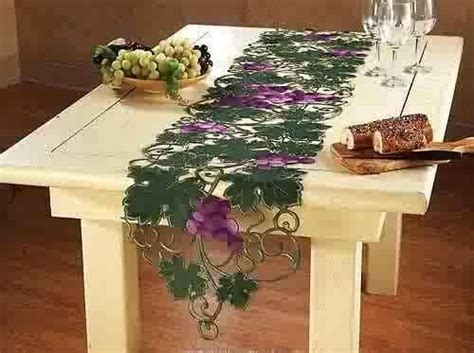 classy kitchen grape decor kitchen decor grapes vineyard embroidery table runner
