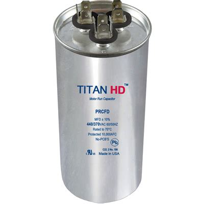 titan pro run capacitor wiring prcfd455a titan hd run capacitor 45 5 mfd 440 370 volt florida appliance parts