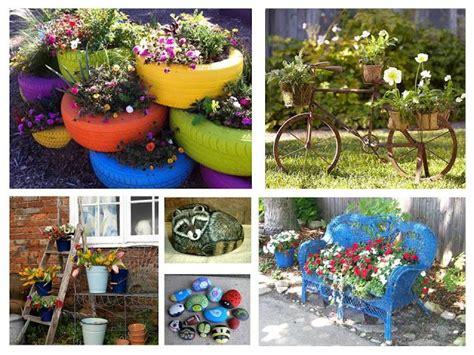 imagenes de jardines con reciclado paisajismo pueblos y jardines ideas creativas de objetos