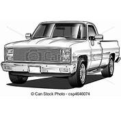 Chevrolet Clipart Chevy Truck  Pencil And In Color