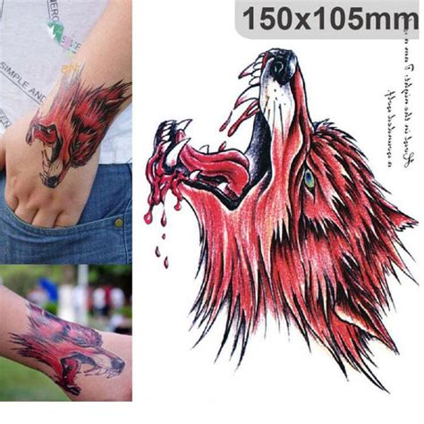 henna tattoo and blood donation blood wolf wolf temporary sleeve