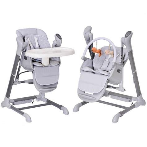 chaise haut bebe le splity 3 en 1 chaise haute balancelle transat