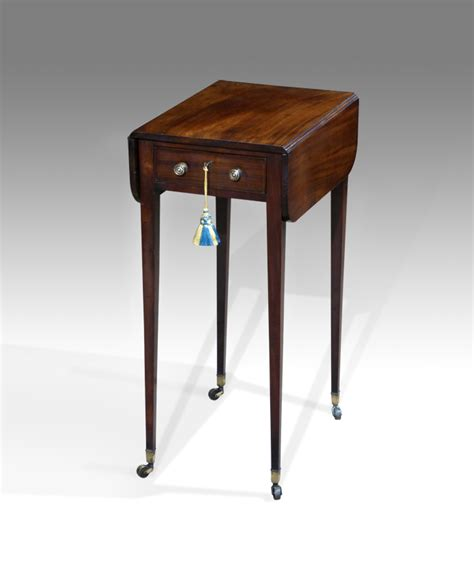 Arbeitstisch Klein by Small Pembroke Work Table Mini Pembroke Table Mahogany