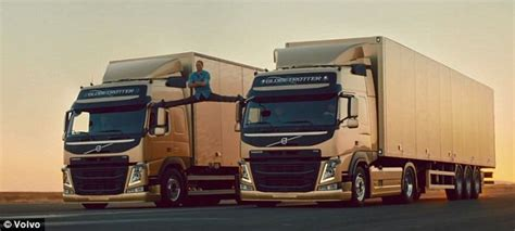 jean claude van damme  performs  splits   moving trucks  breathtaking stunt