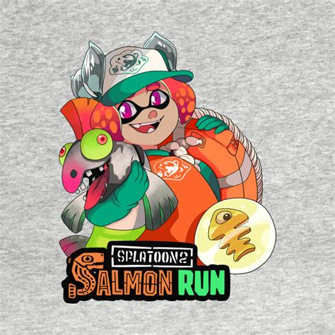 Nintendo Wall Stickers salmon run shirt 1 splatoon inkling nintendo salmon run