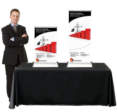 table top poster expo pro table top retractable table top banner stand