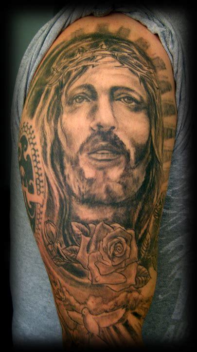 jesus tattoo gallery part of jesus sleeve by wildthingstattoo on deviantart