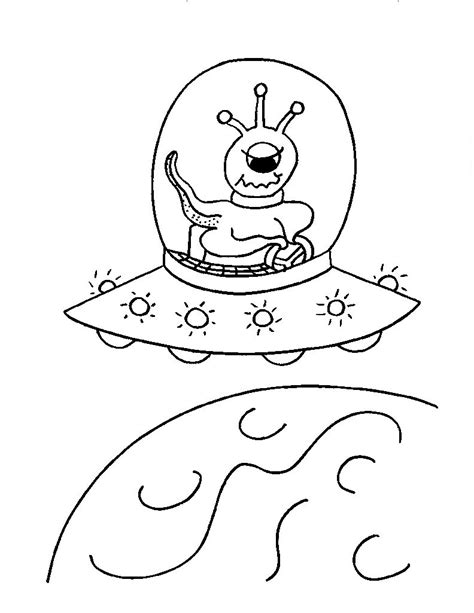 ufo coloring book pages free coloring pages of space alien