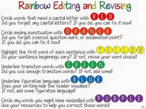 Revise Essay by Rainbow Editing And Revising Freebie Ideas By Jivey For The Classroom