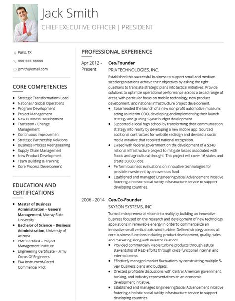 curriculum vitae sle for executive the 10 best executive cv exles