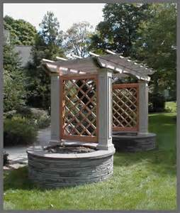 Trellis Planter Arbour With Gothic Trellis Amp Stone Planters