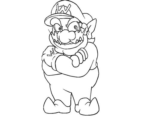 Wario Coloring Page wario coloring pages coloring home