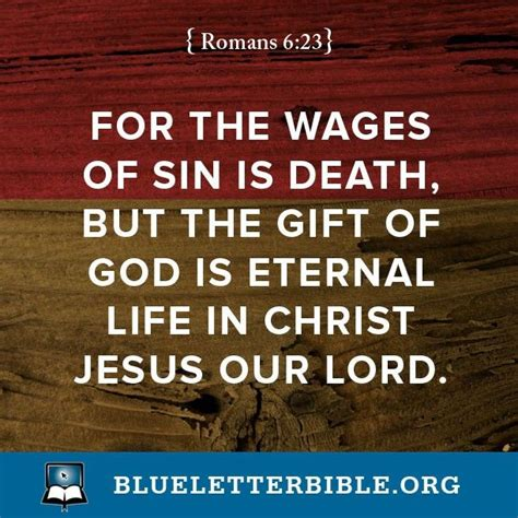 The Sins Of Scripture quot for the wages of is but the gift of god is