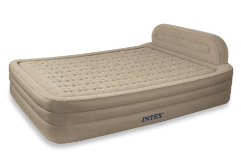 intex deluxe framed airbed kit top air mattresses reviews