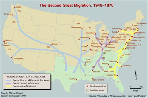 where s everybody going migration patterns and housing map monday the second great african american migration