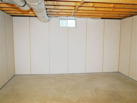zenwall insulated basement wall panels installed in lowell