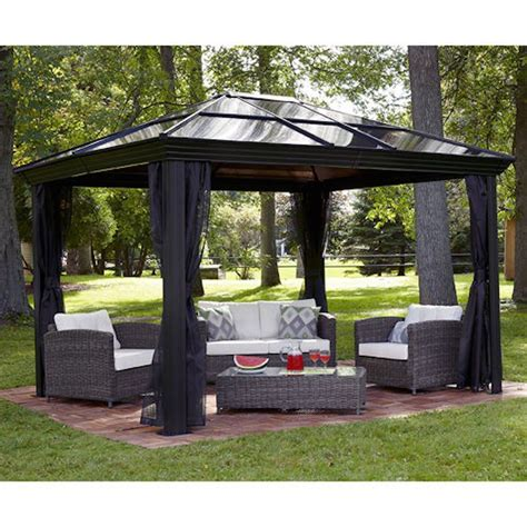 hardtop pavillon 3x4 gazebo canopy pergola this 10 x 12 hardtop gazebo tent