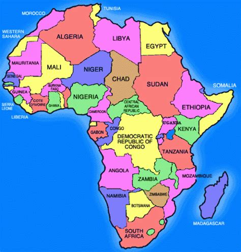 continent of africa map africa map